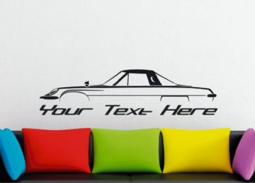 Large Custom car silhouette wall sticker - for Mazda Eunos Cosmo L10A (1967–1972) classic coupe